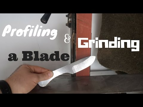 Profiling and Grinding the Bevel on a Knife Blade