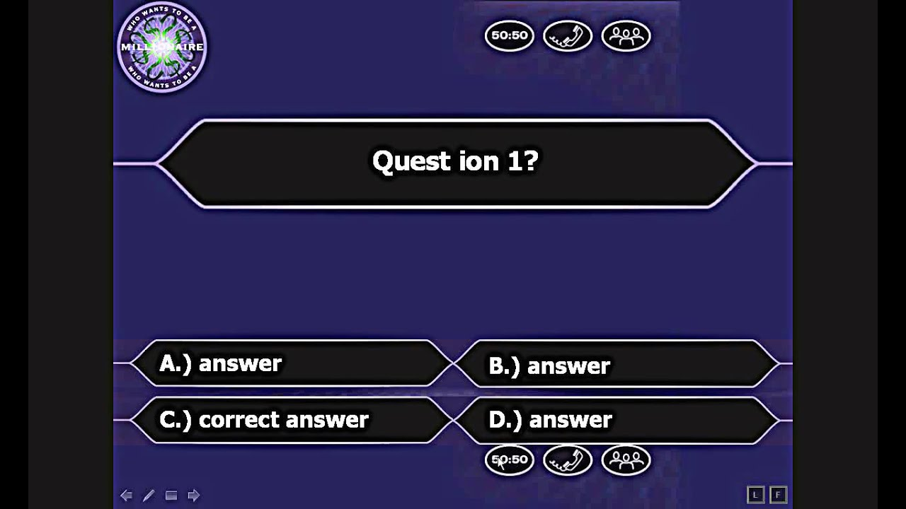 who wants to be a millionaire powerpoint - youtube, Powerpoint templates