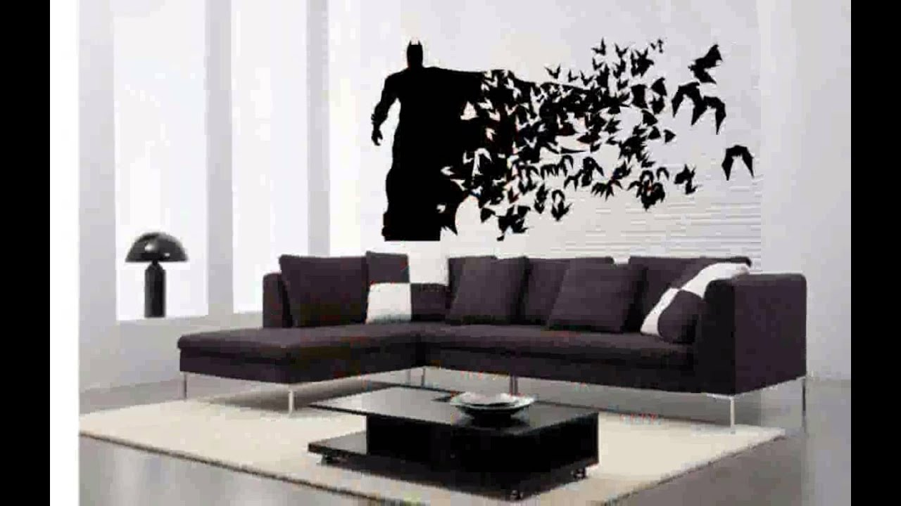 Batman wall decals youtube for Batman wall mural decal