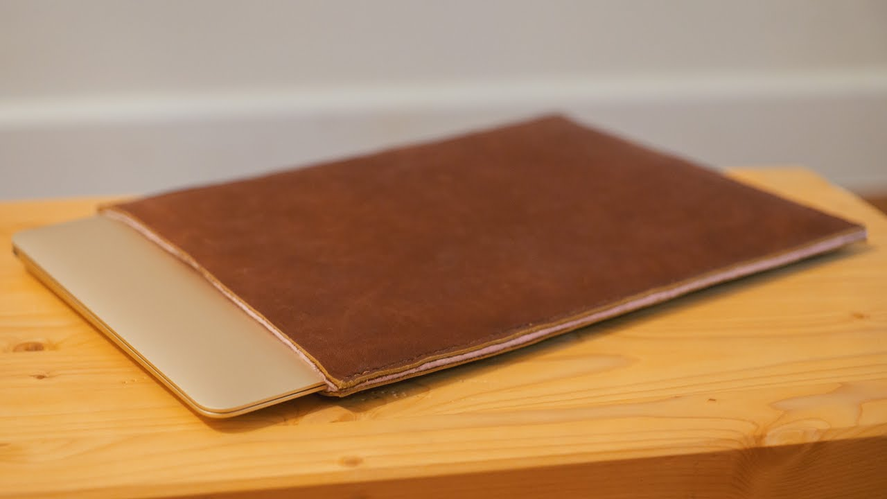 Finest Making a Leather Laptop Sleeve - YouTube DX14