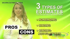 Types of Moving Estimates | Free moving quotes by Movers.com