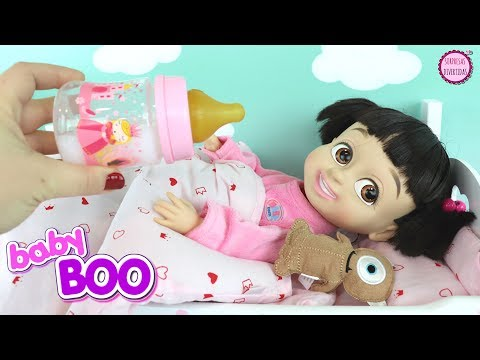 Muñeca Bebé Boo come sopa de ORBEEZ en su Rutina de Noche y abriendo juguetes sorpresa