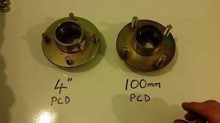 """Gambar cover 4"""" or 100mm PCD Unbraked Trailer Hub - How to work it out"""