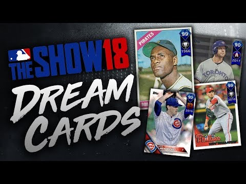 ROBERTO CLEMENTE & ROY HALLADAY! MLB THE SHOW 18 DREAM CARDS