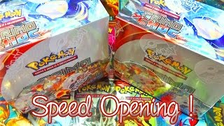 speed opening 3 ouverture de 2 display pokmon xy5 primo choc un max d ultra rares