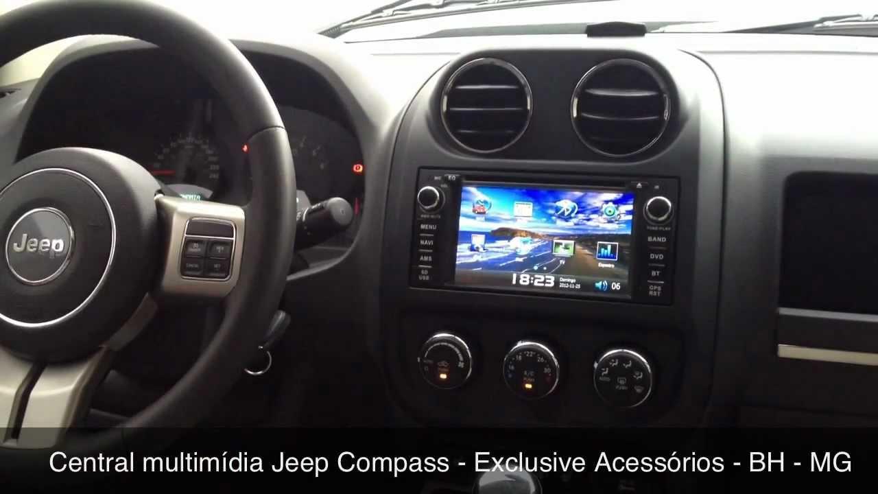 Jeep Wrangler Renegade >> Central Multimídia Jeep Compass - Exclusive Acessórios - BH - MG - YouTube