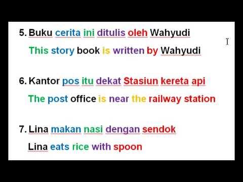 Indonesian Language   Preposition   Kata Depan