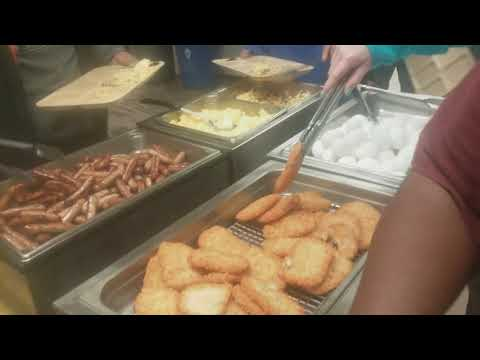 TYPICAL SEAFOOD PROCESSORS BREAKFAST?|| AlaskaFishingjobs.com