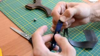 Привязывание тяг (резины) на рогатку
