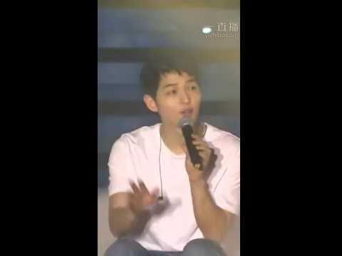 160527 송중기 Song Joong Ki FM sing 'Always' Descendants Of The Sun OST 태양의 후예OST