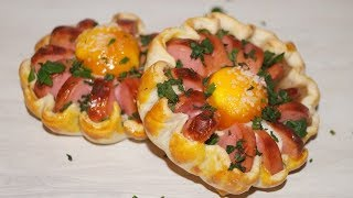 Простой красивый завтрак РОМАШКИ.Оригинальная яичница