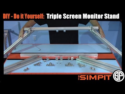 DIY - 80/20 Triple Monitor Stand by The Simpit