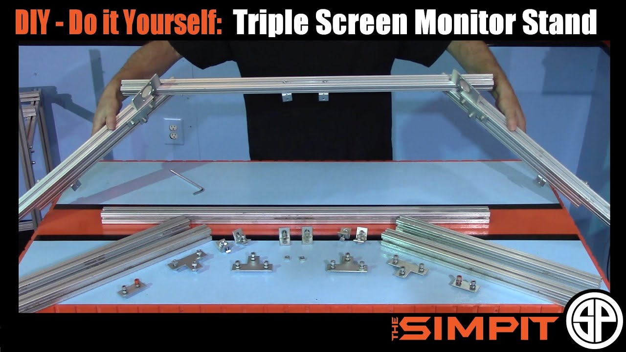 Diy 80 20 Triple Monitor Stand By The Simpit Youtube