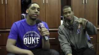 Jahlil okafor interviews rodney hood after duke/unc 2014