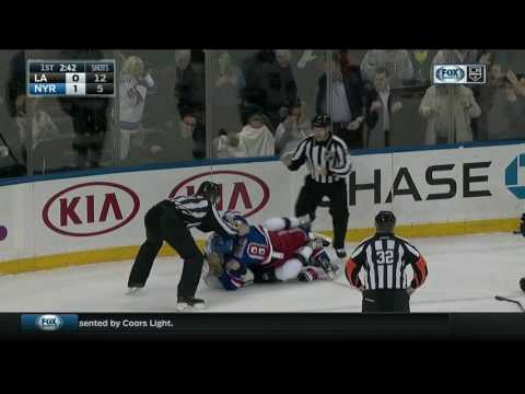 Fans shield faces from Klein and McNabb fight