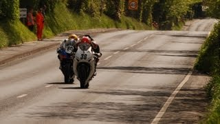 Isle of Man TT - Union Mills to Glenlough very FAST superbikes #HD#