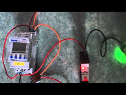 Schema Collegamento Orologio Theben : Horloge programmable et relais youtube