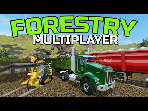 FARMING SIMULATOR 2017 | FORESTRY WITH THE TRACKED JCB | MULTIPLAYER