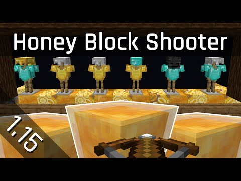 Honey Block Shooting Gallery Tutorial | Minecraft 1.15