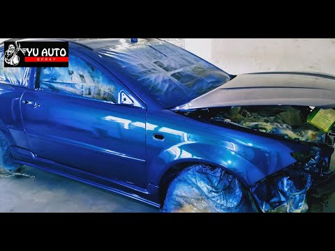 Proton Satria Neo Pearl Blue Paint Finishing [Yu Auto Spray] Part 1
