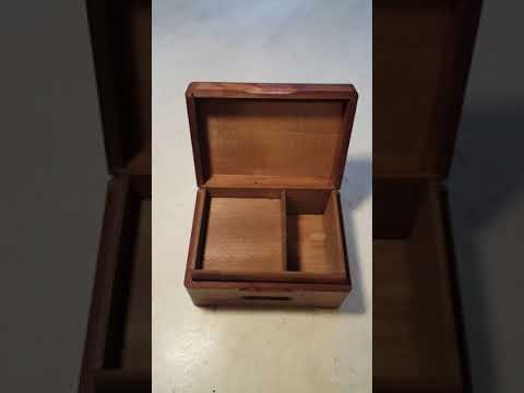 Circa 1950 Black Forrest Carved Music Box