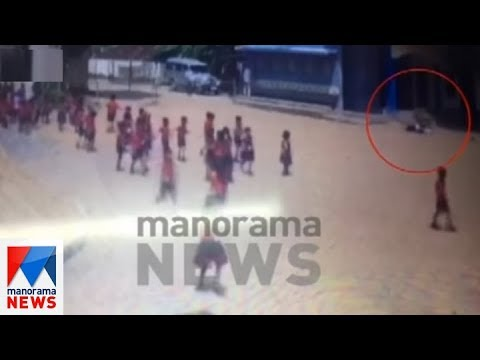 CCTV visuals of Kollam school student Gauri Who jumped from building | Manorama News