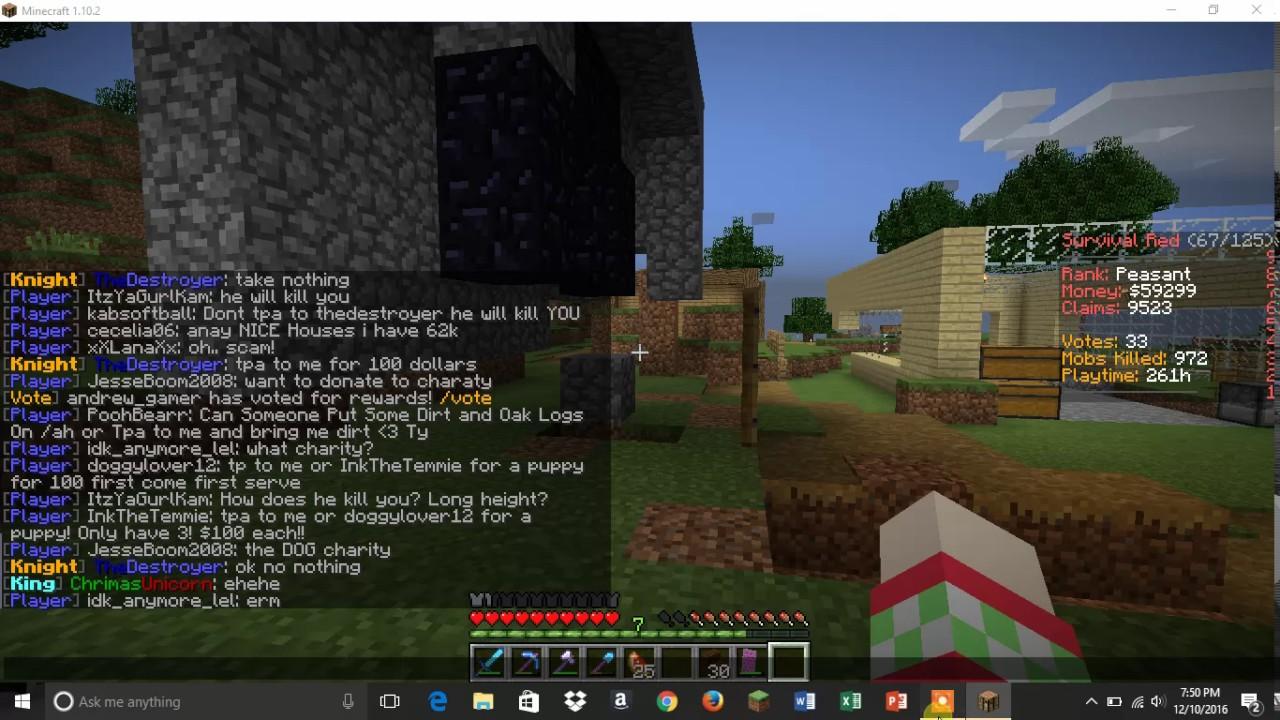 minecraft bean blocks server e 55 youtube