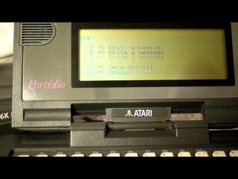 Atari Portfolio Tweeting