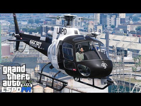 GTA 5 LSPDFR Police Mod 486   Helicopter Callouts   LAPD Air Support For Suspect Fleeing Crime Scene