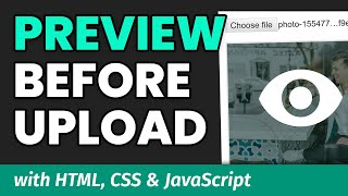 Previewing Image Before File Upload - JavaScript Tutorial