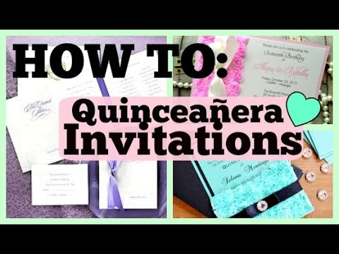 How to make your own quince invitations youtube solutioingenieria Image collections
