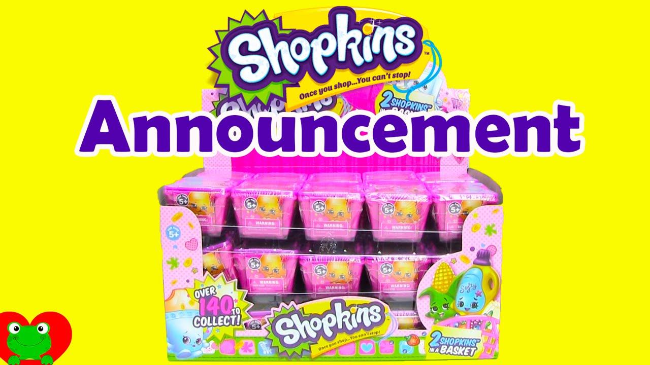 Shopkins Season 2 Full Case Blind Baskets and Announcement