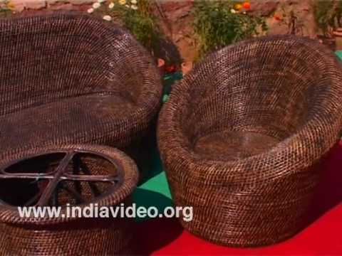 Sofa set made of Bamboo from North East India