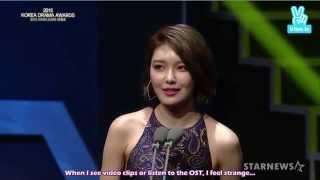 [ENG SUB] 151009 SNSD Sooyoung - Actress Excellence Award