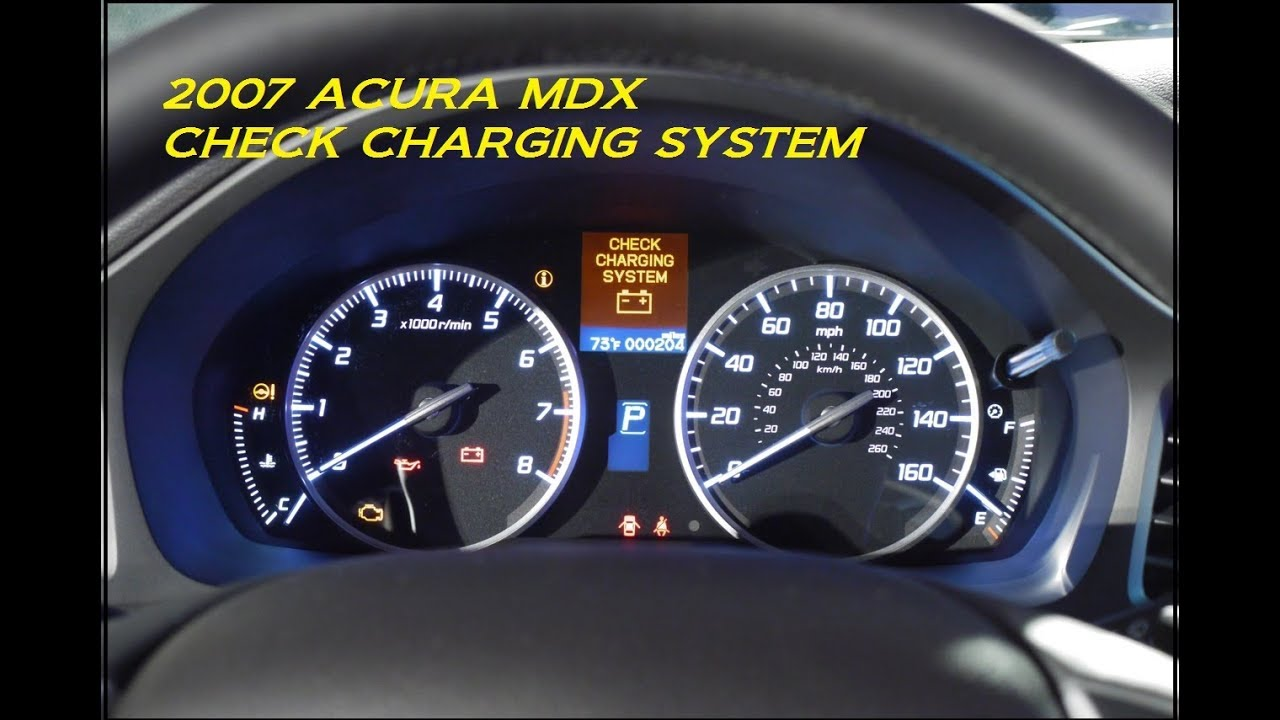 2007 ACURA MDX CHECK CHARGING SYSTEM HOW TO REMOVE ALTERNATOR