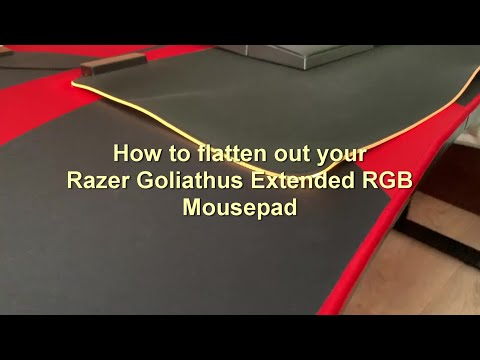 How to flatten out your Razer Goliathus Extended Chroma Mousepad