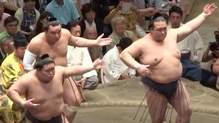 三役揃い踏み・平成28年9月場所千秋楽