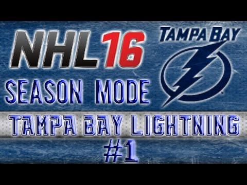 "NHL 16 Season Mode - Tampa Bay Lightning Ep.1 ""1st Shot, 1st Goal"""
