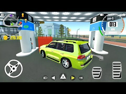 Putting Gas in A Car At A Service Station: Car Simulator 2 - Android Gameplay