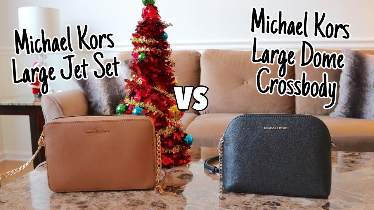 59cc3226fd53 Michael Kors Large Jet Set Bag VS Michael Kors Large Dome Crossbody Bag