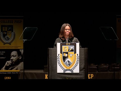 The First Lady Speaks at King College Prep High School's Commencement