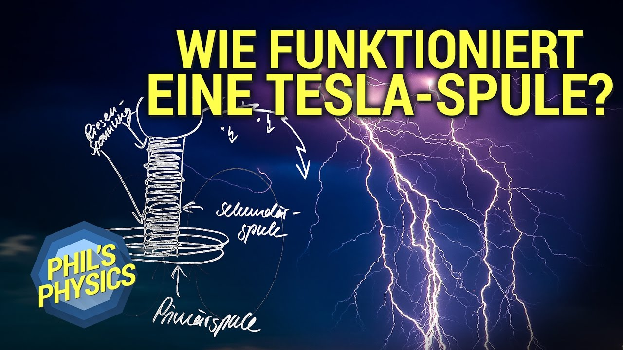tesla spule einfach erkl rt induktion wie funktioniert. Black Bedroom Furniture Sets. Home Design Ideas