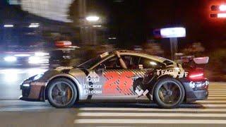 【ガムボール】夜の東京に海外からスーパーカーが到着/Gumball finish in Tokyo. Supercars sound in Japan. 911R, 599GTO, and more!