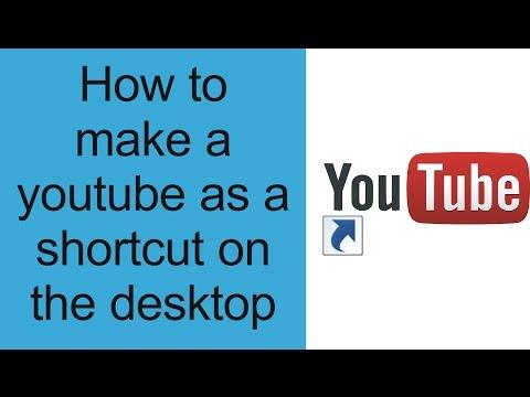 How To Create Website Shortcut To Desktop (youtube,Facebook,twitter,google)