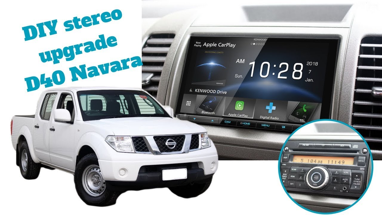 how to install stereo in a nissan navara d40 radio install removal d40 [ 1280 x 720 Pixel ]