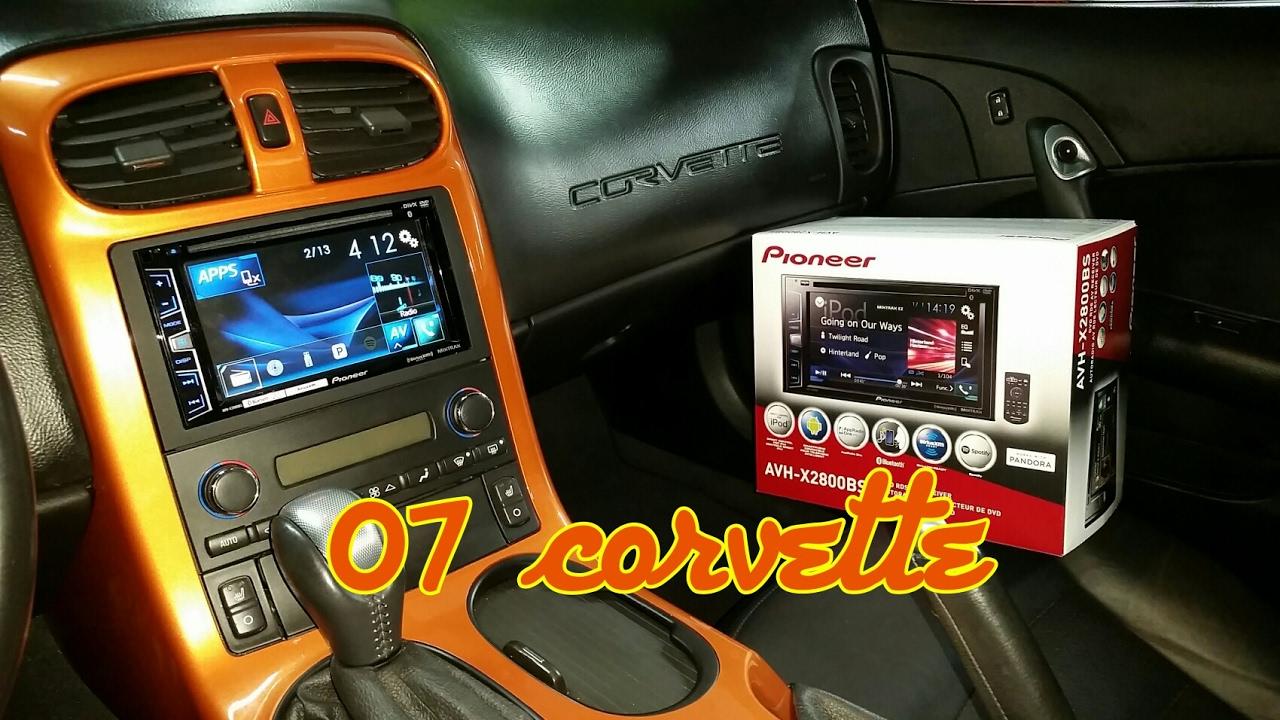 hight resolution of chevy corvette radio removal pioneer install
