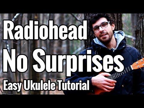 Radiohead - No Surprises - Ukulele Tutorial with Tab & Play Along