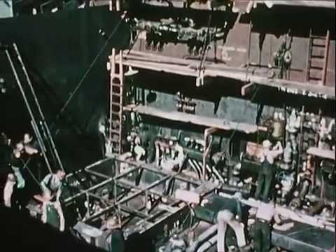 Birth of Victory at the Richmond Shipyards - 1946 - CharlieDeanArchives / Archival Footage