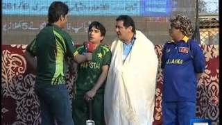 Dunya News-Malinga surprises spectators at Dunya News special Asia Cup transmission
