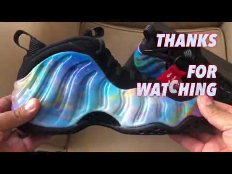 a1f5f423577 Nike Foamposite Galaxy BIG BANG review and legit check. - YouTube